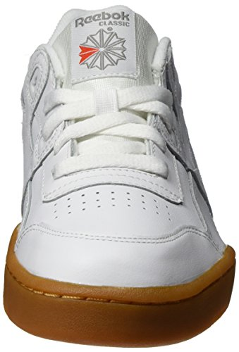 Red white Para Royal classic Royal gum carbon Reebok Zapatillas Niñas De Blanco carbon Gimnasia Workout gum Plus reebok classic White qPPnwxU4