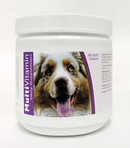 Healthy Breeds Dog Multivitamin and Mineral Supplement Soft Chew for Australian Shepherd - Over 200 Breeds - for Small Medium & Large Breeds - Easier Than Liquid or Powders - 60 Chews