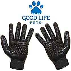 Good Life Pets Pet Grooming Glove - Ergonomic Design To Streamline Grooming and Bathing - Use As A Grooming Glove, Bathing Glove, Massage Glove - Features Comfortable And New Improved Durable Surface