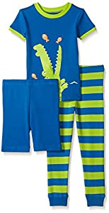 Little Me Boys' 3 Piece Cotton Pajamas