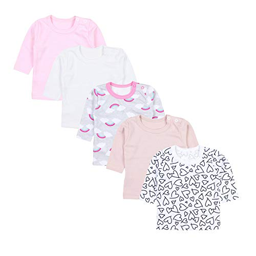 TupTam Baby Meisje Shirt met Lange Mouwen 5-pack