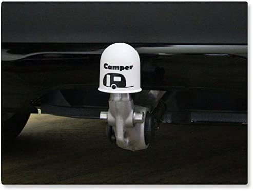 Schutzkappe Anhängerkupplung Blickfang Campingplatz Wohnwagen Caravan Weiß Auto