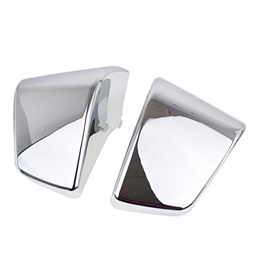 2pc Chrome ABS Plastic Motorcycle Left & Right Battery Side Fairing Cover Panel Oil Tank Cover For Honda Shadow ACE 750 VT750 VT400 (Fairing Motorcycle Cover)