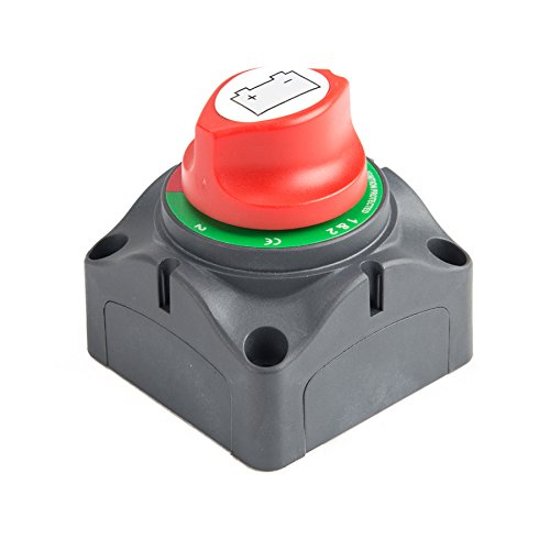 3 Position Disconnect Isolator Master Switch, 12-60V Battery Power Cutoff Kill Switch, Fit for Car/Vehicle/RV/Boat/Marine, 200/1250 Amps Waterproof