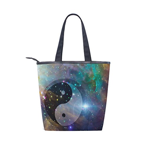 Yin Canvas Tote Bag Shoulder Celestial MyDaily Womens Yang Handbag Galaxy wZq16Ix7x