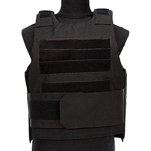 BI Young Airsoft Tactical Stab Proof Vest MOLLE Bulletproof Body Armor Carrier Security Self-Defense Plate Carrier Equipment