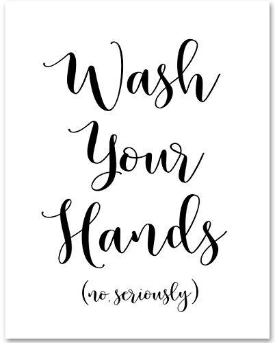 x14 Unframed Typography Art Print - Great Bathroom Decor ()