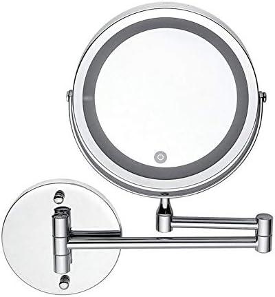 ツェッペリン10倍拡大鏡メイクアップミラー浴室ウォールマウントバニティミラーシェービング用ミラー360°回転可能
