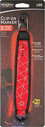 Nite Ize NAM-03-10 Clip-On Reflective LED Safety Marker, Red