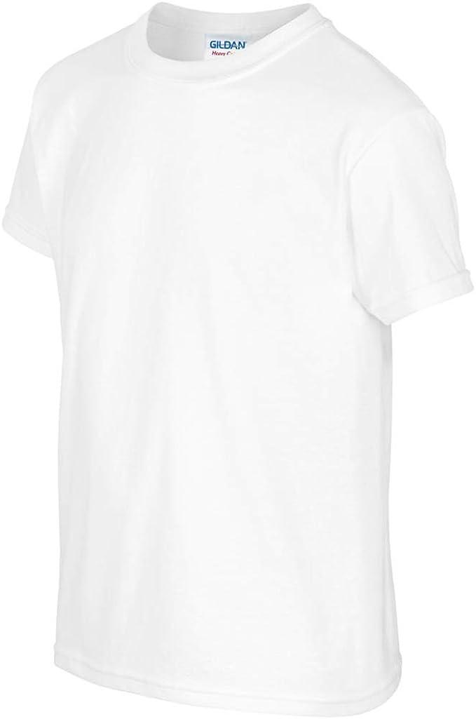 Gildan - Camiseta básica de manga corta Unisex con algodón grueso Niños Niñas - Verano/Calor: Amazon.es: Ropa y accesorios