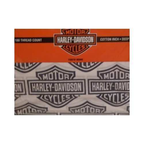 Harley Davidson Flame Rider Fireball Sheet Set-Twin Size