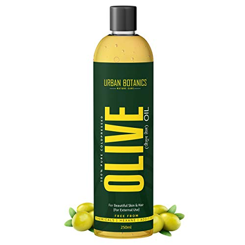 UrbanBotanics® Pure Cold Pressed Olive Oil For Hair and Skin, 250ml