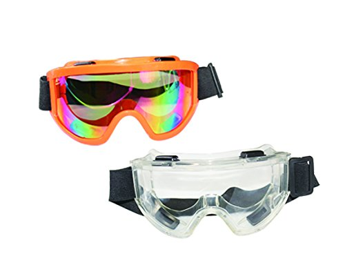 SDent USA FDA & TUV CE Dental Rainbow Lens Safety Glasses 1 Set 2PCS 2 Colors Transparent Lens Disposable Eye Shield Face Mask Face Shield Face Mask Face Guard