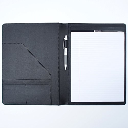 AHZOA 4 Pockets A4 Size Memo Padfolio S3 with Mechanical Pencil, Including 8.27 X 11.7 inch Legal Writing Pad, Synthetic Leather Handmade 9.84 X 12.99 inch Notepad Clipboard (Black) by AHZOA (Image #8)