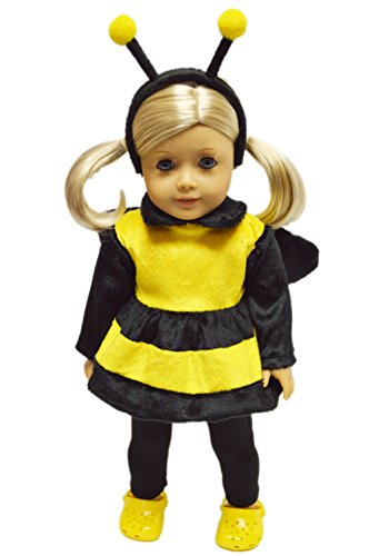 [My Brittany's Bumble Bee Halloween Costume for American Girl Dolls] (Doll Outfits Halloween)