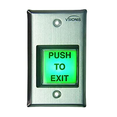 Vsionis VIS-7000 Green Square Request to Exit Button for Door Access Control with LED Light