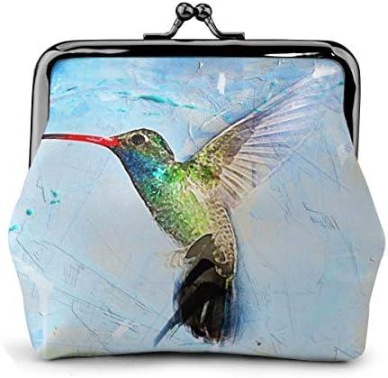 ホワイトサン がま口 財布 小銭入れ 鳥チ 11.5cm×10.5cm×3cm レザー 小物入れ コインケース