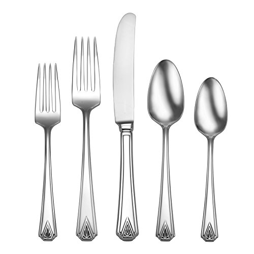Oneida Deauville 45 Piece Fine Flatware Set, 18/10 Stainless, Service for 8, ()