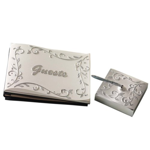 Lenox Opal Innocence Guest Book with Pen