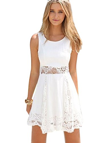 Short White Lace Dress: Amazon.com