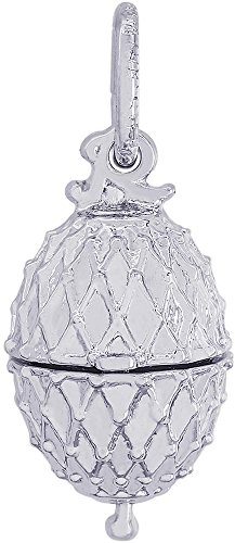 Rembrandt Easter Egg w/ Chick Charm - Metal - 14K White Gold