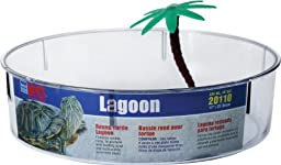 Lee\'s Turtle Lagoon, Round w/Label and Plant, Medium