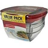 2d391509e46c Amazon.com: 3-Piece Food Storage Container Made of Glass with Copper ...