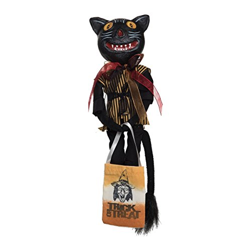 GALLERIE II Patience Vintage Cat Joe Spencer Gathered Traditions Halloween Art Doll ()
