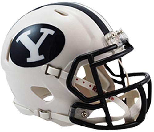 Sports Memorabilia Riddell BYU Cougars Revolution Speed Mini Football Helmet - College Mini Helmets