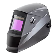 Antra AH6-660-0000 Solar Power Auto Darkening Welding Helmet with AntFi X60-6 Wide Shade Range 4/5-9/9-13 with Grinding Feature Extra lens covers Good for TIG MMA MIG Plasma