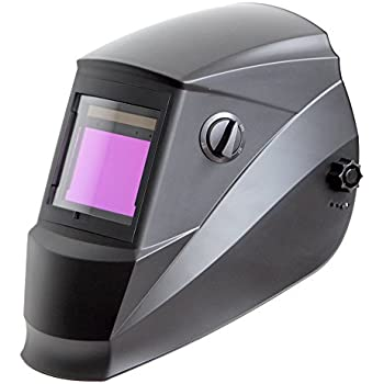 Antra AH6-660-0000 Solar Power Auto Darkening Welding Helmet with AntFi X60-6 Wide Shade Range 4/5-9/9-13 with Grinding Feature Extra lens covers Good for Arc Tig Mig Plasma