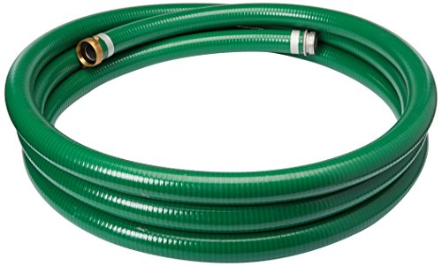 Apache 98128010 1-1/2'' x 20' PVC Style G (Green) Suction Hose with Aluminum Pin Lug Fittings by Apache (Image #1)