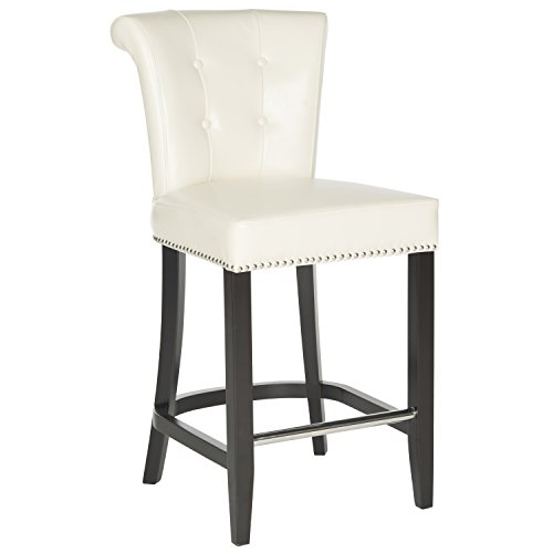 Safavieh Hudson Collection Addo Ring Counter Stool, Flat Cream and ()
