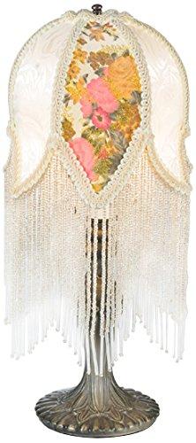 Tulip Floral Sconce (Meyda Tiffany 109198 Fabric & Fringe Victorian Tulip Accent Lamp, 15