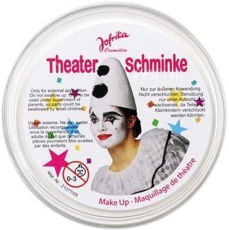NET TOYS Clownschminke wei/ß Clownswei/ß Clown Schminke wei/ße Theaterschminke Faschingsschminke