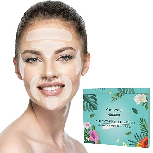 Facial Wrinkle Patches Anti-Wrinkle Pads Face Forehead Wrinkle Patches Facial Line Filler, Upper Lip Wrinkle repair Smoothing Wrinkle Patches,16 Kit 256 Patches Face Lift Tape