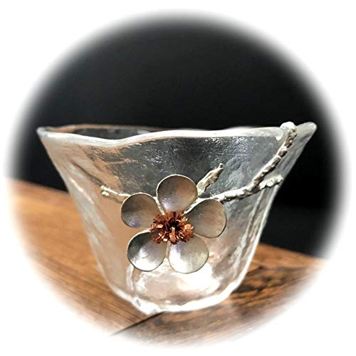 (Chinese style tea cup transparency flower fish design coffee&tea cup glass (4))