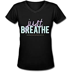 LDMH Women's Just Breathe T Shirt Black
