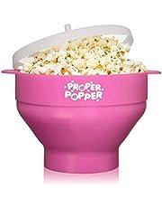 The Original Proper Popper Microwave Popcorn Popper, Silicone Popcorn Maker, Collapsible Bowl BPA Free & Dishwasher Safe - (Pink)