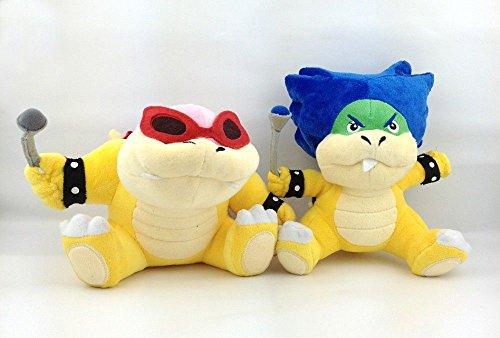 2X Super Mario Bros Koopalings Roy & Ludwig von Koopa Plush Soft Toy Bowser 7