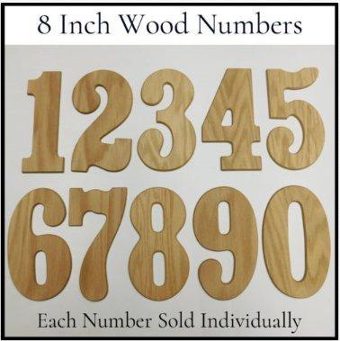 Amazon com: Wood Numbers,