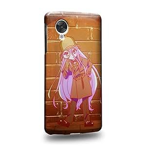 Case88 Premium Designs No Game No Life Sora Shiro Jibril Izuna Hatsuse Stephanie Dola Kurami Zell Carcasa/Funda dura para el LG Nexus 5