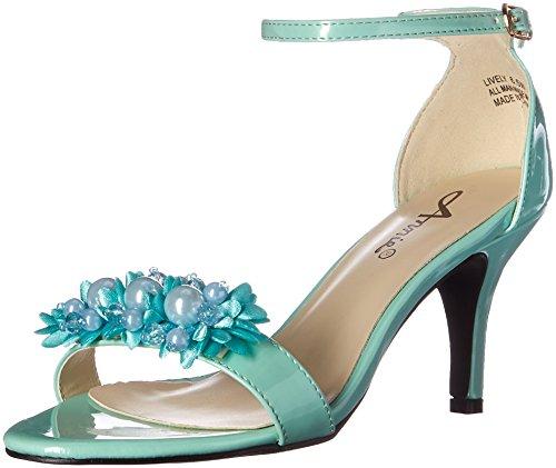 Annie Shoes Women's Lively W Dress Sandal, Soft Green, 7.5 M US