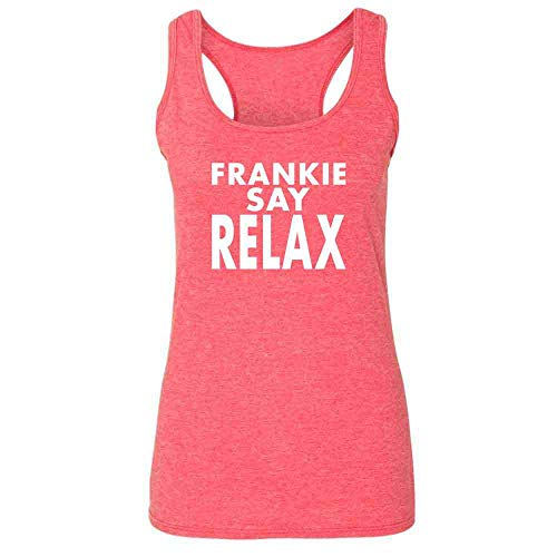 Frankie Say Relax Classic 80s Heather Fuchsia S Womens Tank Top