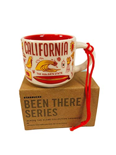 Starbucks California Been There Collection Ceramic Coffee Mug Demitasse Ornament 2 oz