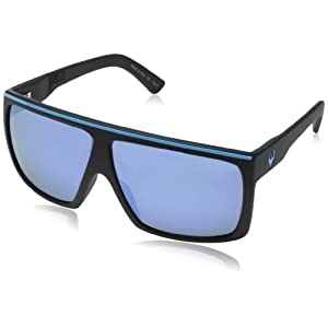 Dragon Alliance Unisex-Adult's Fame Sunglasses (Matte Blue/Sky Blue Ion Lens, One Size)