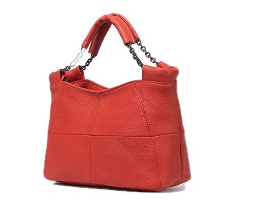 Messenger Ladies Leather Handbag Bag Handbag Simple Shoulder Soft Red Bag Bag New Leather 2018 ZM leather Casual Zw87O