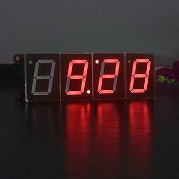 37add2a16bcd ... Música Luz Control Diy Digital Electrónico Alarma Reloj Kit Con Función  De Cronómetro De Cuenta Regresiva De Temperatura-Rojo  Amazon.es  Hogar