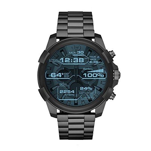 Diesel On Full Guard Touchscreen Gunmetal Stainless Steel Smartwatch DZT2004