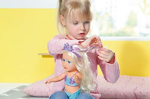 Zapf Creation 824344 BABY born Sister Meerjungfrau Funktionspuppe für das Wasser mit Fischschwanz und Perlendiadem, 46 cm